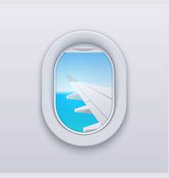 window view plane aircraft plane interior travel vector image