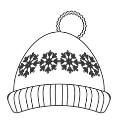 winter knit hat icon vector image