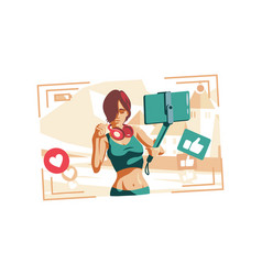 woman fashion vlogger vector image