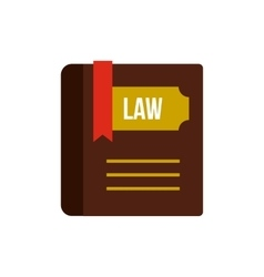 Book of law icon flat style vector image vector image