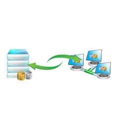 data transfer vector image