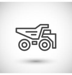 Dumper line icon vector image