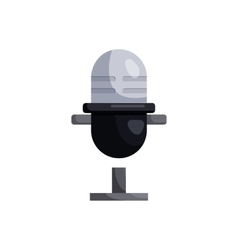 Retro microphone icon cartoon style vector image
