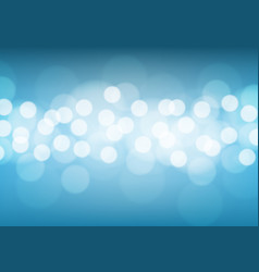 abstract white bokeh light on blue background vector image