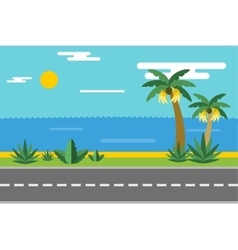 Beautiful colorful summer seascape vector image