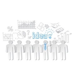 Business people communication teamwork idea vector image