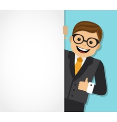 businessman and background with space for text vector image vector image
