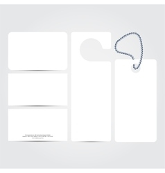 Corporate identity template set blank Business vector image vector image