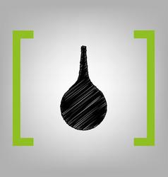 Enema sign black scribble icon in citron vector