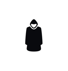 isolated hood icon cloak element can be vector image vector image