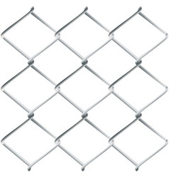 Metal Mesh Fence vector image vector image