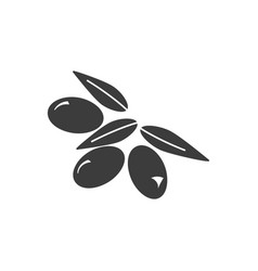 monochrome isolated olives icon on white vector image
