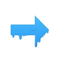 right melting arrow icon forward symbol vector image
