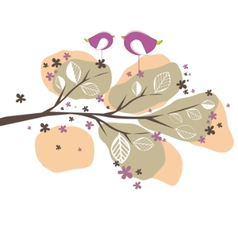 background with birds tree vector illustration vector image vector image