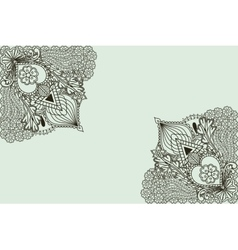 Background with elements of hand drawing in Indian vector image vector image