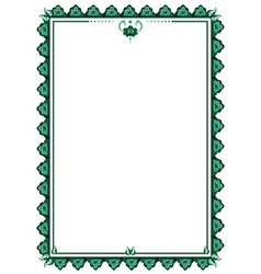 frame with stylized flower vector image vector image