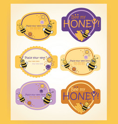honey and lilac labels vector image vector image