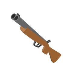Hunting rifle cartoon icon vector image