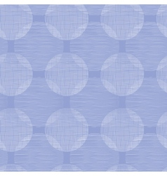 Purple textile circles seamless patter background vector image