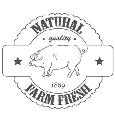 quality farm fresh vector image
