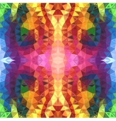 Rainbow colors abstract triangles background vector image vector image