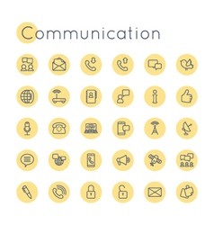 Round Communication Icons vector image vector image