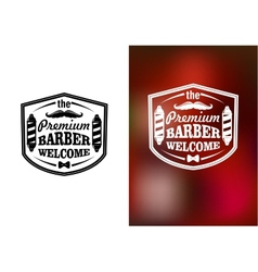 Vintage barber shop welcome banner design vector image vector image