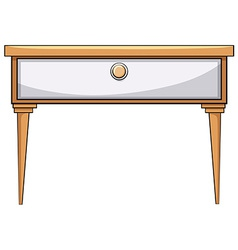 Wooden table vector image vector image