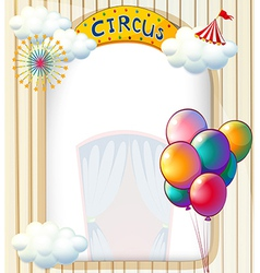 A circus entrance with balloons vector image vector image