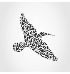 bird of birds vector image