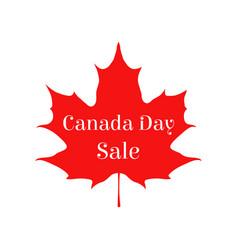 happy canada day sale card vector image
