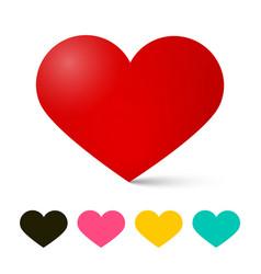 heart icon hearts love symbol vector image vector image