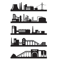 Various industrial plants vector image vector image