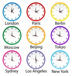 world clocks vector image vector image