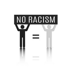 3d stick figures racism concept vector