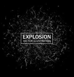 abstract black explosion geometric background vector image