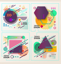 abstract geometric shapes for modern design vector image