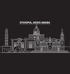 addis ababa silhouette skyline ethiopia - addis vector image
