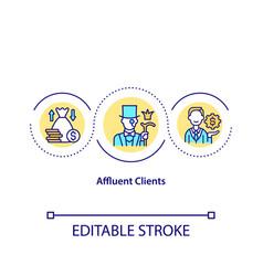 Affluent clients concept icon vector