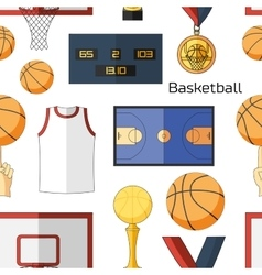Basketball icons pattern vector