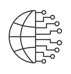 Big data linear icon vector