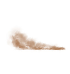 Brown dust plume cloud with white copy space vector