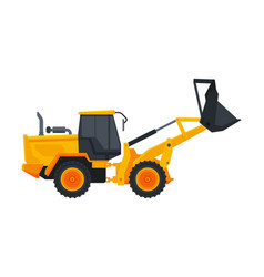 bulldozer construction machinery heavy special vector image