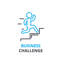 Business challenge concept outline icon linear vector