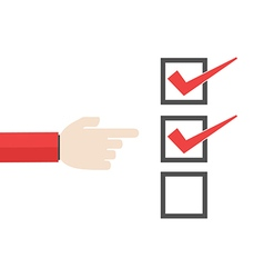Business important checklist forefinger vector