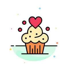 cake cupcake muffins baked sweets abstract flat vector image