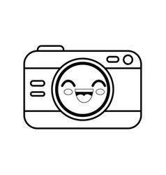 Camera cartoon smiley vector