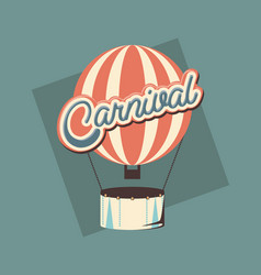 carnival hot air balloon vector image
