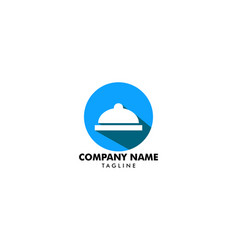 catering company logo template design vector image