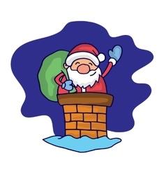 Character Santa Claus at night vector image